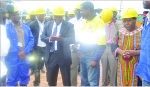 • MINISTER of Mines, Energy and Water Development Christopher Yaluma talks to Lunzua power project manager Ernest Banda (right) when he toured the power plant recently. Pictures by KENNEDY MUPESENI