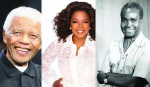 . Mandela, Oprah, Kaunda