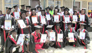 •A GROUP of Build It International graduates pose for a picture.