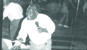 •PETER 'Tsotsi' Juma, Sugar Daddy number One, mesmerising fans at a night club in Lusaka.