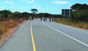 •PART of the Mbala-Nakonde Road being tarred.