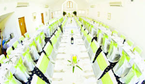 Times of zambia a critical look at the wedding decorator wedding reception decoration plays a vital role in guests memories of a wedding junglespirit Image collections