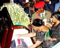 • FIRST LADY Dr Christine Kaseba bidding farewell to her husband.