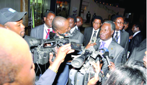 •MR Sata interacted so well with media personnel.