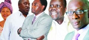 . From left to right Nawakwi, Banda, Hichilema, Pule and Chipimo