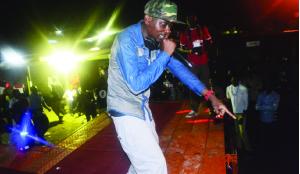 •BRIAN Cheengwa aka P-jay performing during the Miss Copperbelt University (CBU)