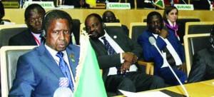 • PRESIDENT Lungu follows proceedings at the African Union (AU) summit in Addis Ababa,  Ethiopia yesterday.