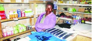 • MS Kolala in her grocery. Picture By STANSLOUS NGOSA