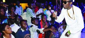 Macky2 entertainng fans at Chobro Masaka night-club in Choma last Friday. Picture ny CHILA NAMAIKO.