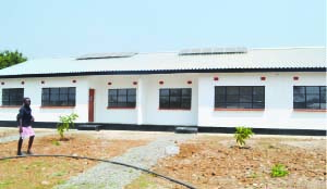 •THE newly built maternity facility at Mutaba in Masaiti.