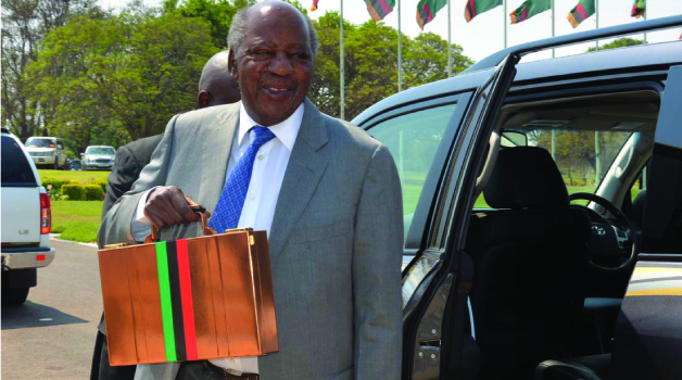 •FINANCE Minister Alexander Chikwanda on arrival at Parliament buildings yesterday in Lusaka before he presented the 2016 National Budget. Picture by Jean Mandela.