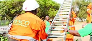 • ZESCO  workers on duty.