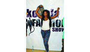 • Model Gina at the Kopala Fashion Show 2015.