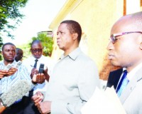 •PRESIDENT Edgar Lungu briefs journalists at State House yesterday on the Special Operational Order aimed at restoring law and order in parts of Lusaka, where suspected ritual murders have been recorded in recent weeks. On his left is his Special Assistant for Press and Public Relations, Amos Chanda. Picture by EDDIE MWANALEZA/STATE HOUSE