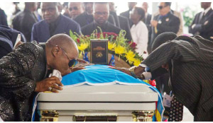 •PAYING last respects to Rhumba icon Papa Wemba.