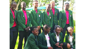 • The Zambia junior boys and girls team after the flag raising ceremony of the ongoing Tri-Nations golf tournament in Malawi. Picture courtesy of Zambia High Commission in Malawi.