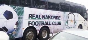 • REAL BOOST: The bus donated to promotion side Real Nakonde by President Edgar Lungu.