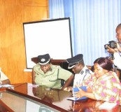 • INSPECTOR General of Police Kakoma Kanganja addresses the Press during a media briefing at the Service headquarters in Lusaka yesterday. Picture by JEAN MUTALE
