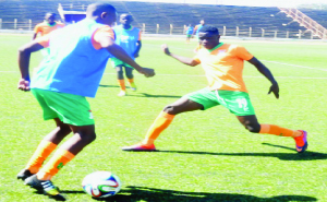 • COSAFA READY: Under–17 players in training at Independence Stadium in Lusaka ahead of the Mauritius tournament. Picture by ADRIAN MWANZA