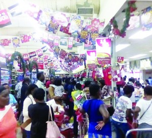 • MANY took advantage of the Black Friday to buy good at reduced prices at Shoprite Zambia Kitwe branch yesterday. Picture by MUSONDA MANGILASHI
