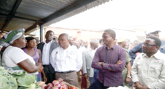 President Lungu (second right)