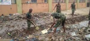 .Zambian Army Cleaning