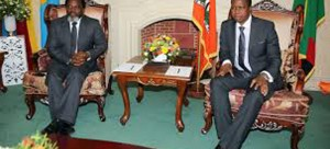 .President Lungu (Right) with President Kabila of DRC