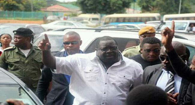 . Kambwili (center)