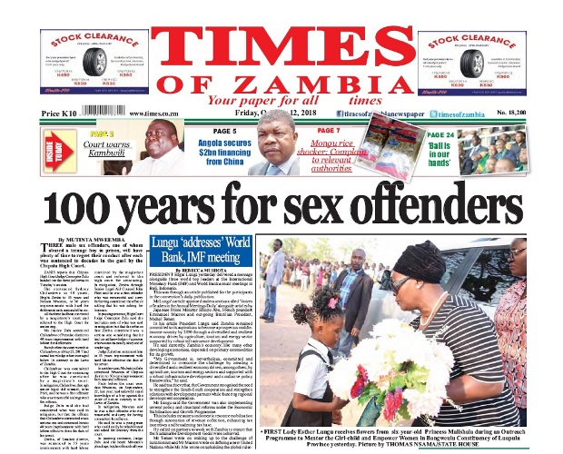 Times of zambia headlines for dating